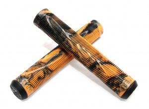 GRIT Handlebar Grips - Black/Orange - 160mm